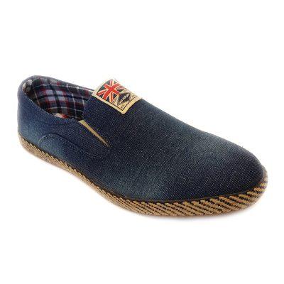 f84c8b0fe6f5 80233 -Blue- Men's Stylish Casual Denim Shoes UK Flag